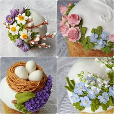 Mother's Day Cookies, Easter Cookies, Cupcake Cookies, Christmas Cookies, Cupcakes, Buttercream Fondant, Easter Peeps, Flower Cookies, Cake Topper Tutorial