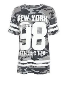 Cameo Rose - T-shirt vert à imprimé camouflage | New Look