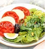 Receta de ensalada de tomate, pepino y lechuga
