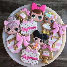 LOL Suprise Doll Cookies Birthday Set/ LOL Dolls Cookies/ LOL