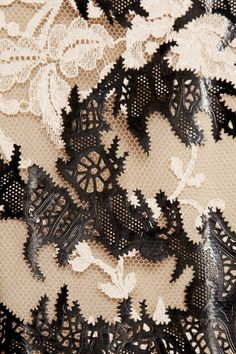 Alexander McQueen laser-cut patent-leather and lace dress