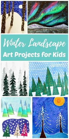 Artists of all ages will be able to find an easy winter landscape art project in this collection. Painting winter trees and landscapes is a fun way for kids to get creative on snowy or rainy winter days and connect with nature during the colder winter months.
