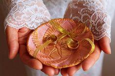 Rose Gold Wedding Ring Dish Pink Ring Bearer Alternative Ring   Etsy