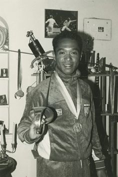 Olympics 1984: NYU Olympian Peter Westbrook (STERN '75) poses with his bronze medal. Westbrook won the medal in sabre at the 1984 Olympics.