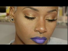 How-to| Fingerwaves on my short 3c/4a hair + Golden Glam Makeup Look Perfect for Spring - YouTube