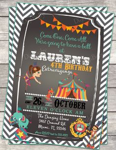 printable Circus carnival Birthday Party by DigiBabyDesign on Etsy, $15.00