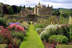 Abbotsford House, formerly the residence of historical novelist and poet, Sir Walter Scott, near Melrose, Scotland (by *Michelle*).