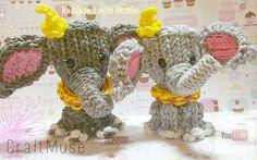 Tendance Bracelets  Rainbow Loom Dumbo/Elephant Part Two