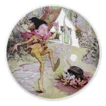 Rumplestiltskin by Anne Anderson Kids Ceramic Knob