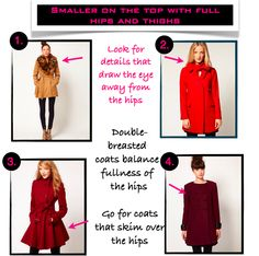 The best coat styles for pear shapes Pear Shaped Dresses, Fashion Beauty, Fashion Looks, Women's Fashion, Triangle Body Shape, Pear Body, Boucle Coat, Fall Outfits, Fashion Outfits