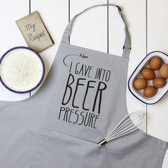 Personalised 'Beer Pressure' Apron - cooking with dad