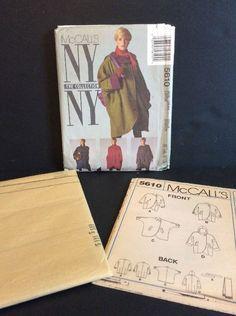 McCalls 5610 Sewing Pattern NY 18 20 Raincoat Coat Jacket Belt Scarf Large FF 23795734226 | eBay