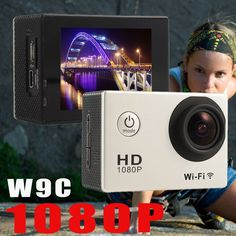 Full HD 1080P 12MP Wifi Camera W9C Sports Action Video Camera DV Bike Helmet Actioncam go waterproof pro cameras //Price: $69.65      #FirstDayOfSummer
