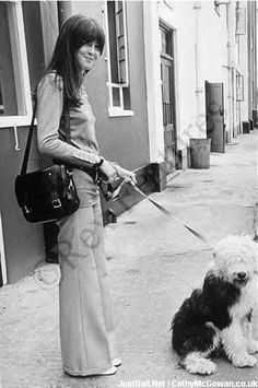Cathy McGowan walks her dog