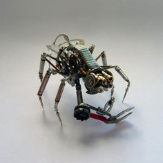 Mechanical Insects Made from Old Watch Parts by jeweler Justin Gershenson-Gates