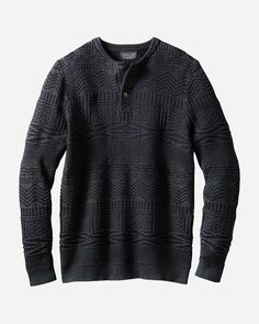 Wool is naturally warm, insulating and even soft, thanks to our fine merino. Shop Pendleton men's wool sweaters & cardigans now. Mens Flannel Shirt, Sweater Shirt, Sweater Outfits, Men Sweater, Plaid Shirts, Thermal Henley, Winter Tops, Cool Sweaters, Metal Buttons