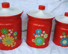 Antique White Utensil Holder with Gingham Ribbon Red Mason Jars, Chalk Paint Finishes, Utensil Holder, Canister Sets, Gingham, Craft Supplies, Ribbon, Antiques, Handmade Gifts