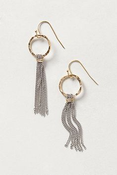 Sun-Fringe Hoops #anthropologie $32 | my layered ring may be good to turn into this