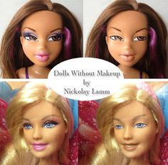 "Dolls Without Makeup by Nickolay Lamm ""Surely Barbie can't look this bad?!"""
