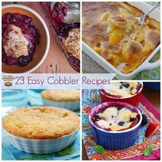 23 Sweet Recipes for Cobblers | Cobbler recipes are the perfect way to enjoy summer fruit.