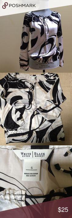 White House/black market blouse White House/black market blouse, new , size S,100% silk , bundle to save for shipping White House Black Market Tops Blouses