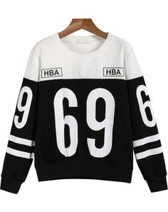 Shop Black White Long Sleeve 69 Print Sweatshirt online. Sheinside offers Black White Long Sleeve 69 Print Sweatshirt & more to fit your fashionable needs. Free Shipping Worldwide!