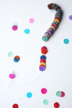 confetti garland.  Tiny.  I love it.