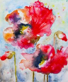 Red Poppies IX (14 x 11 inches) - Sold         Summer Poppies - (15 x 11 inches) - $250     Poppy Field V (11 x 15 inches) - $250     Fiel...
