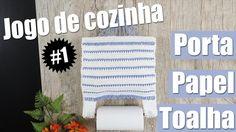 """Porta papel toalhas de crochê - Jogo de cozinha #1 """"Soraia Bogossian"""""""