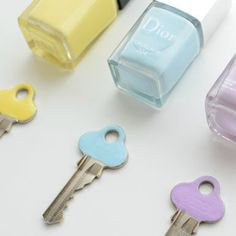 Paint the top of keys with nail polish to see the difference between Keys so u dont have to guess which key anymore