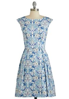 Be Outside Dress in Birds. Who would want to be cooped up when clothed in the fun bird pattern of this pretty dress? #blue #modcloth