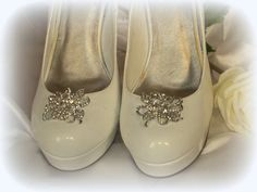 SHOE CLIPS Vintage Style Clear Rhinestone Shoe by ShoeClipsOnly, $28.00