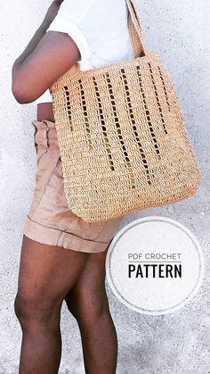 Diy Crochet Bag, Crochet Clutch, Crochet Purses, Crochet Tote Bags, Knit Bag, Knit Crochet, Bag Pattern Free, Tote Pattern, Purse Patterns