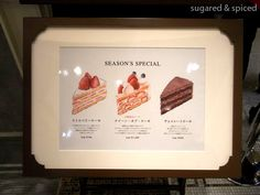 tokyo HARBS seasonal menu