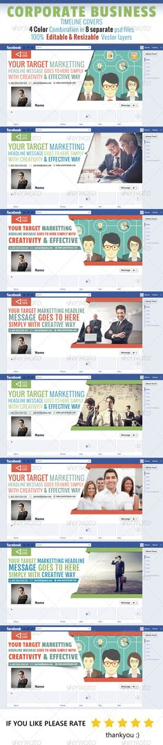 INSTANT Download Facebook 851x315 px size Timeline Cover Photoshop - business timeline template