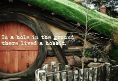 Not a nasty, dirty hole filled with worms and oozy smells, this was a hobbit hole. And it had all the comforts of Home. <3