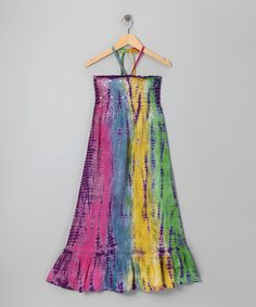 Take a look at this Rainbow Sequin Tie-Dye Convertible Dress - Girls by Squeeze on #zulily today!