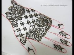 YouTube fingerless gloves inspired #arabic #henna #mehndi #design #tutorial