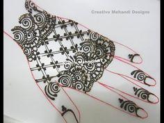 YouTube fingerless gloves inspired #arabic #henna #mehndi #design #tutorial