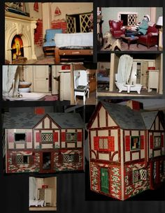 antique doll house complete