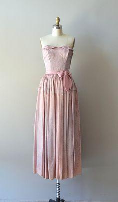 Decennio Malva dress / vintage 40s dress / brocade by DearGolden