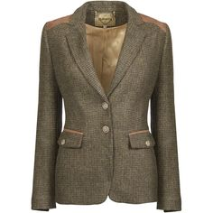 Dubarry Pearlwort Tweed Jacket in Heath. Ladies blazer-style jacket made from 100% new wool which has been Teflon coated for added water and stain resistance. Nicely finished with faux suede trim under the collar, on the shoulders and on the pocket flaps. On-seam hidden handwarmer pockets. Convertible collar can be buttoned-up against the elements. Bias-cut undersleeve panel. Horn-type buttons with Dubarry engraving.