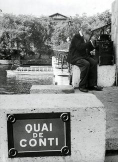 Willy Ronis - Quai de Conti, Paris, 1960.