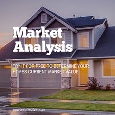 I can help to determine the value if your home in the current Real Estate Market.