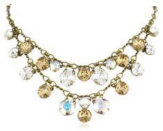 "Sorrelli ""Stardust"" Double-Strand Clear and Light Gold Cushion Crystal Strand Necklace Sorrelli,http://www.amazon.com/dp/B009PKDVVQ/ref=cm_sw_r_pi_dp_kUmWrb110C96428D"