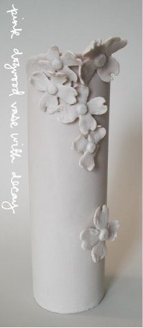 Katherine S. I really like this slab vase because of it's simpleness. I really like the idea of putting lots of flowers like that on my vase. Instead I would draw the flowers on. And I wouldn't make it this tall.