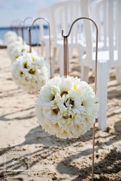 These are beautiful for a beach wedding.