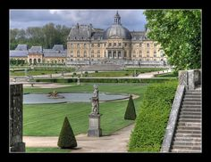 Detail of the grounds & estate of Vaux-le-Vicomte.