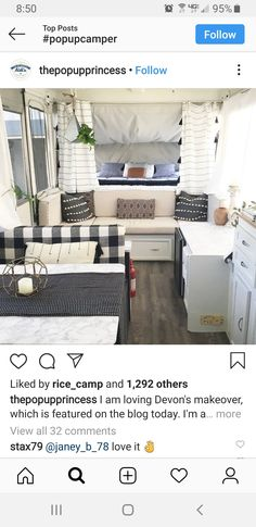Popup Camper Remodel, Camper Renovation, Diy Camper, Camper Ideas, Camper Life, Pop Up Tent Trailer, Tiny House Trailer, Lofts, Rv Living