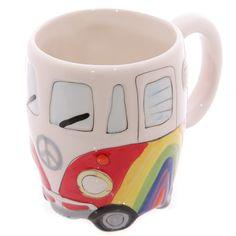 Mug VW combi arc en ciel - Cadeau VW - Mugs et tasses VW